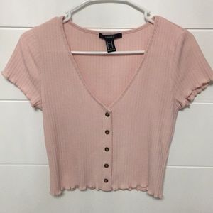Pink forever 21 cropped top.